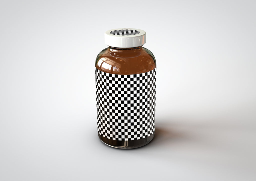 Amber Supplement | Pills Bottle Mock-Up