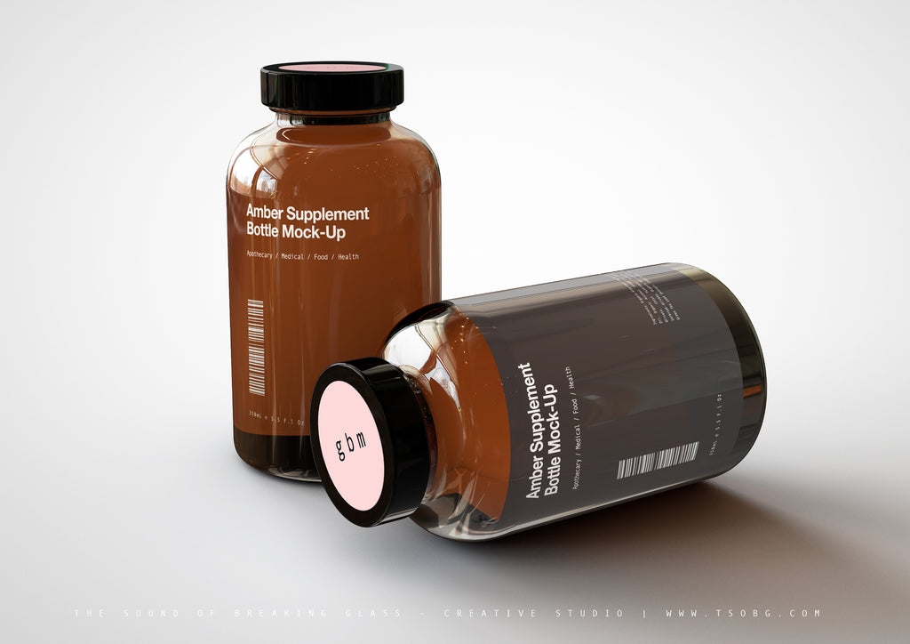 Vitamins | Supplement | Pill Bottle Mock-Up