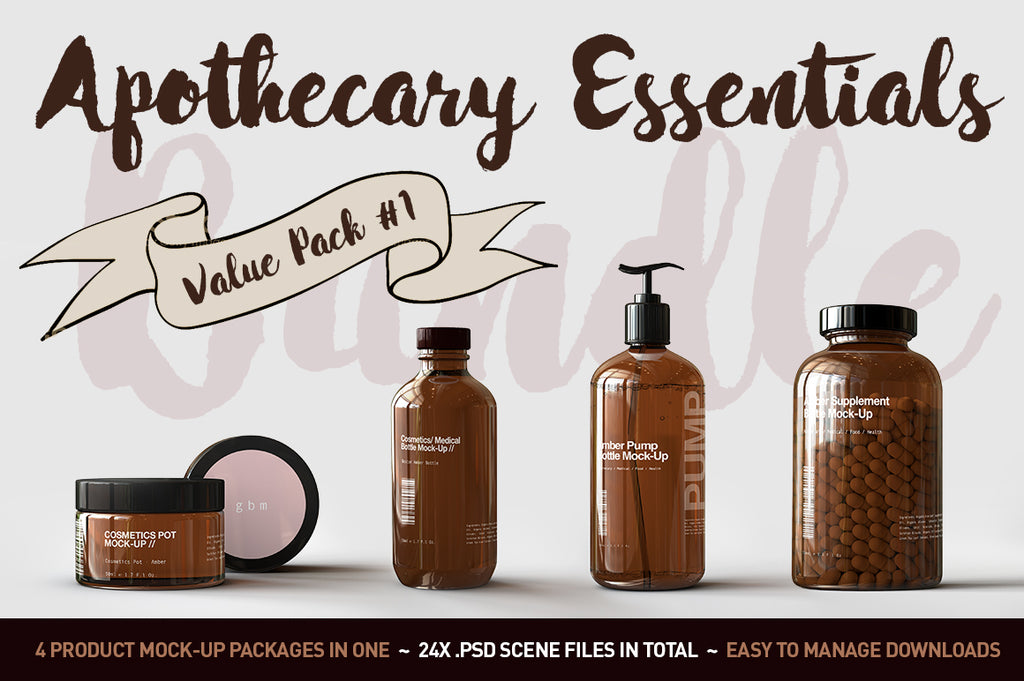Apothecary Jar & Bottle Mock-Up Bundle Collection