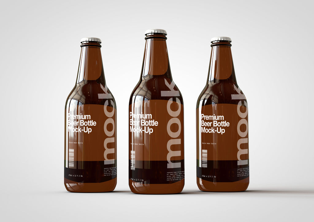 Craft Beer Bottle Mock-Up | Lager Bottle Mock-Up | 330ml | 11 Fl Oz