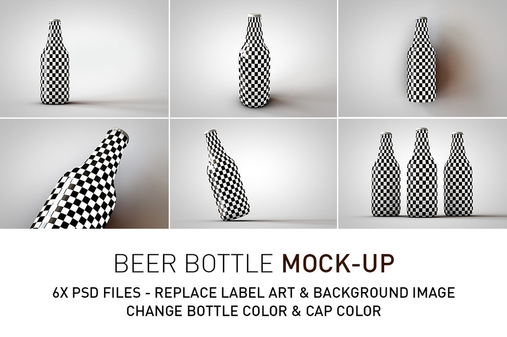 Amber | Green Beer Bottle Mock-Up