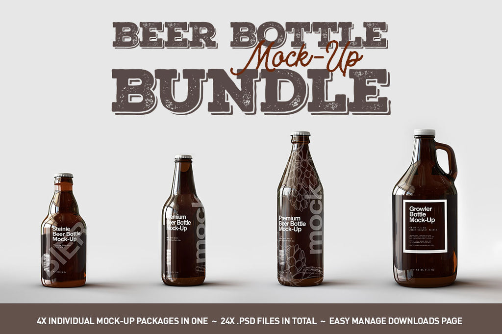 Beer Bottle Mock-Up Bundle