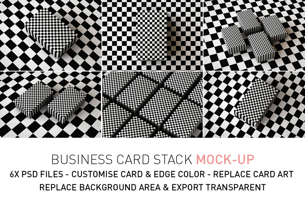 Business Card Stack Mock-Up | Deck Of Cards Mock-Up