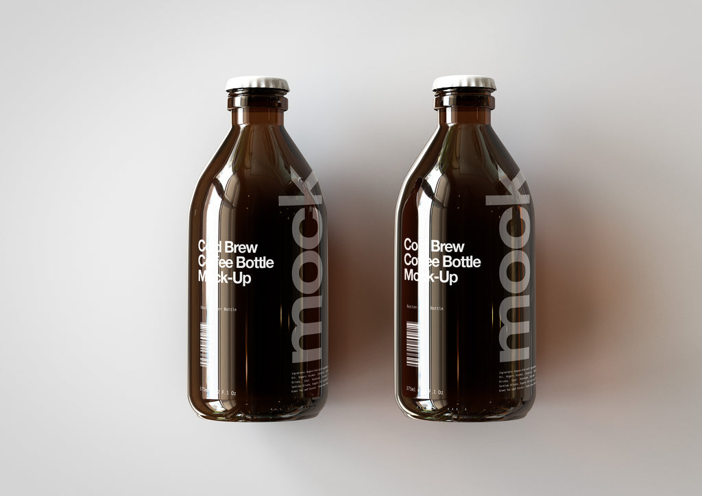 Cold Brew Coffee Bottle Mock-UpCold Brew Coffee Bottle Mock-Up | Stubby Beer Bottle Mock-Up