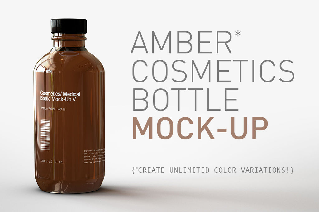 Amber Cosmetics Medical Bottle Mock-Up