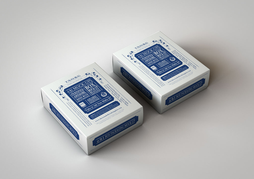 Playing Cards Box Mock-Up | Deluxe White Box Mock-Up