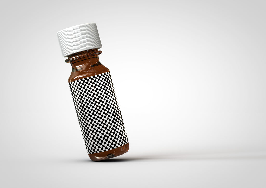 Amber Vial Bottle | Essential Oils Bottle Mock-Up