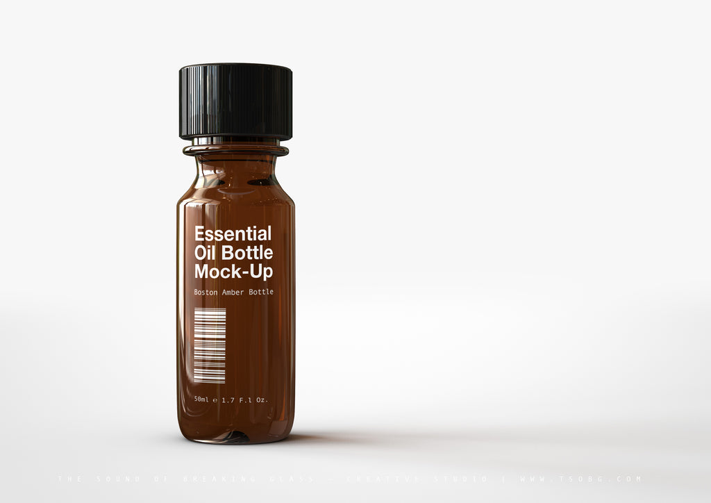 Essential Oils Bottle Mock-Up | Tincture Bottle Mock-Up | Medical Vial Mock-Up