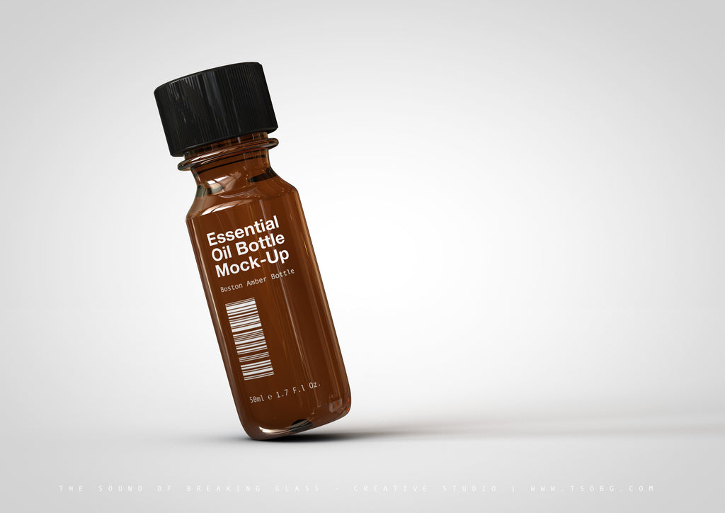 Essential Oil Bottle | Tincture | Vial Mock-UpAmber Essential Oils Bottle Mock-Up | Tincture Bottle Mock-Up | Medical Vial Mock-Up