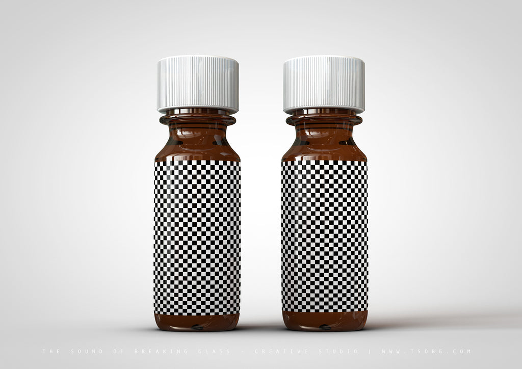 Amber Essential Oils Bottle Mock-Up | Tincture Bottle Mock-Up | Medical Vial Mock-Up