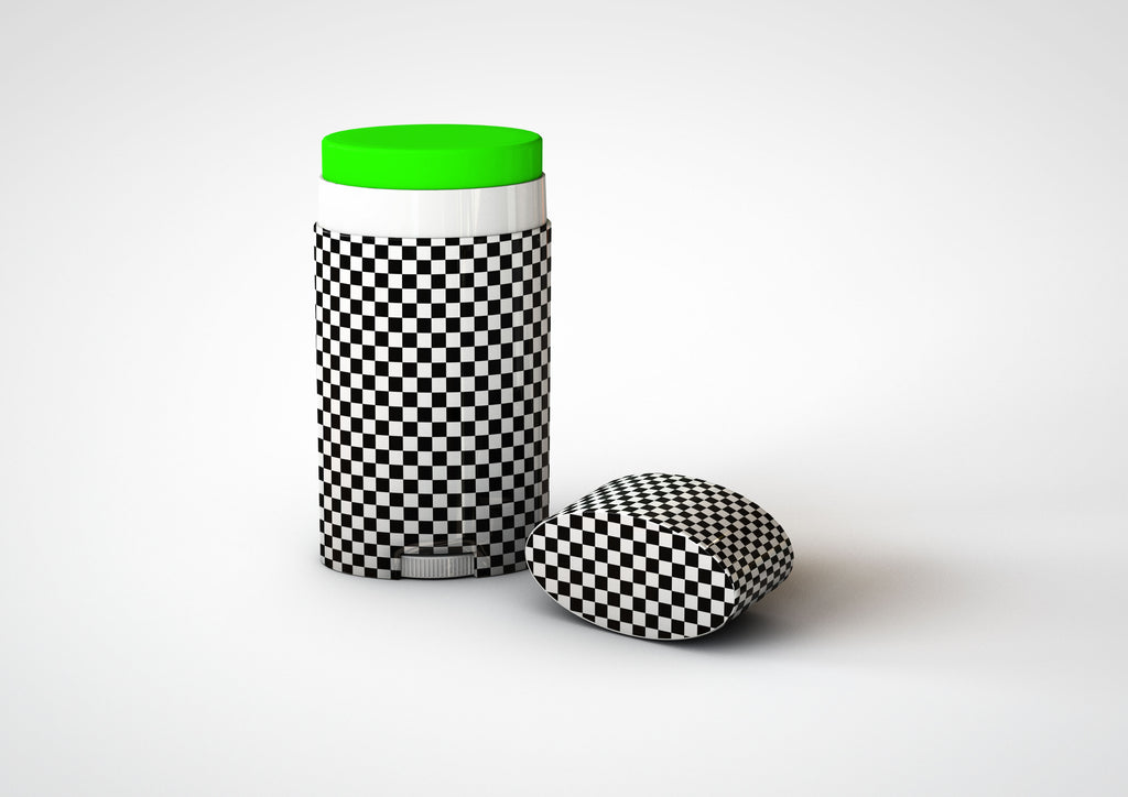 Flat White Ellipse Plastic Deodorant Stick Mock-Up | Lip Balm Tube Mock-Up