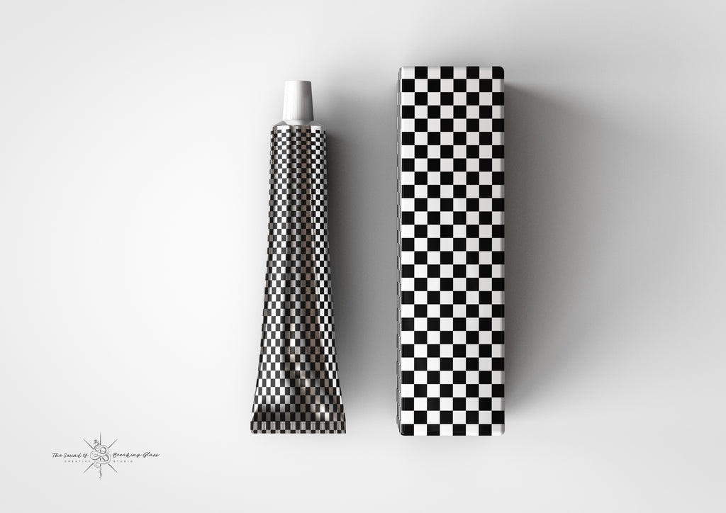 Aluminium - Metal - Laminated Plastic Cosmetics Tube and Box Mock-Up