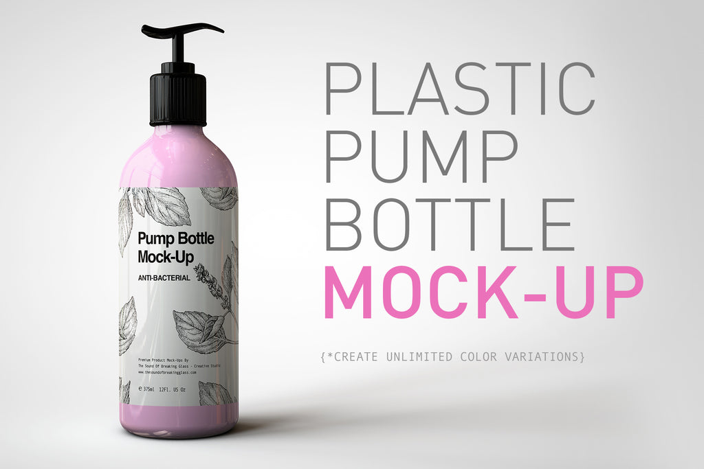 Plastic Pump Bottle Mock-Up