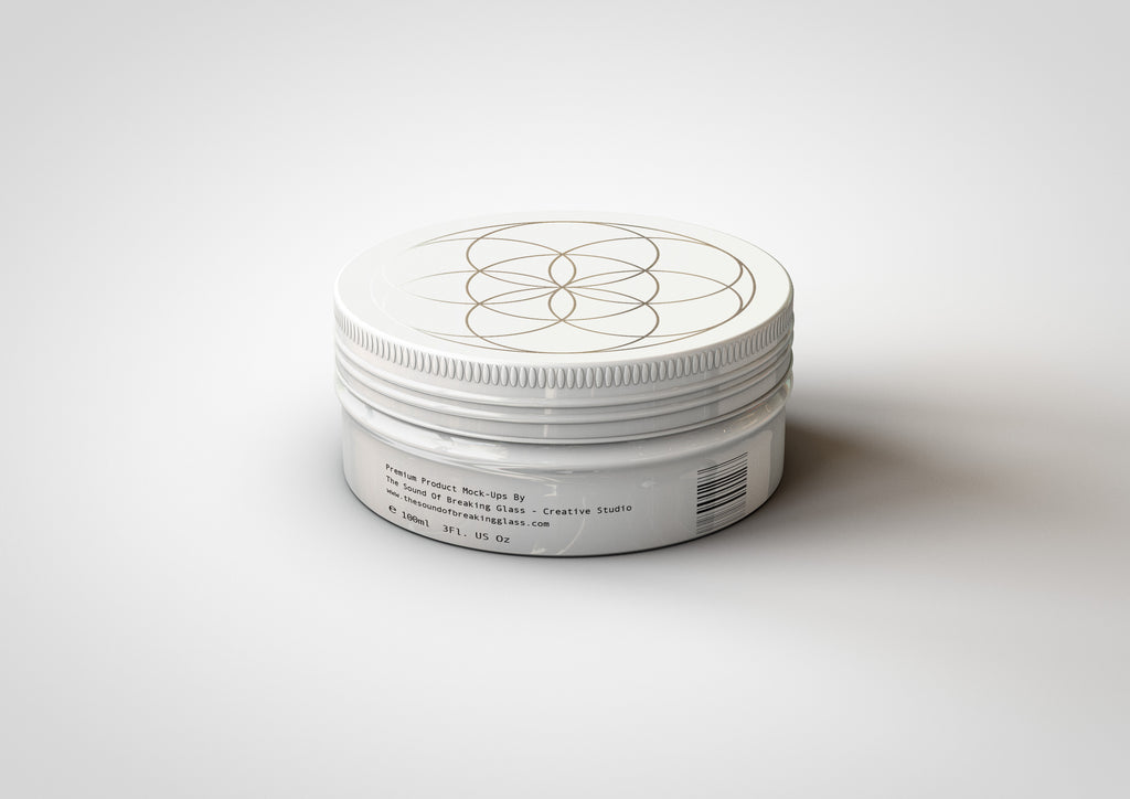 Rounded Cosmetic Tin Mock-Up | Round Metal Packaging Container Mock-Up