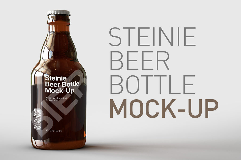 Steinie Beer Bottle Mock-Up