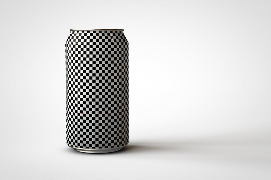 Soda Can | Beer Can Mock-Up | 440ml - 500ml - 14-16 US Fl oz front view