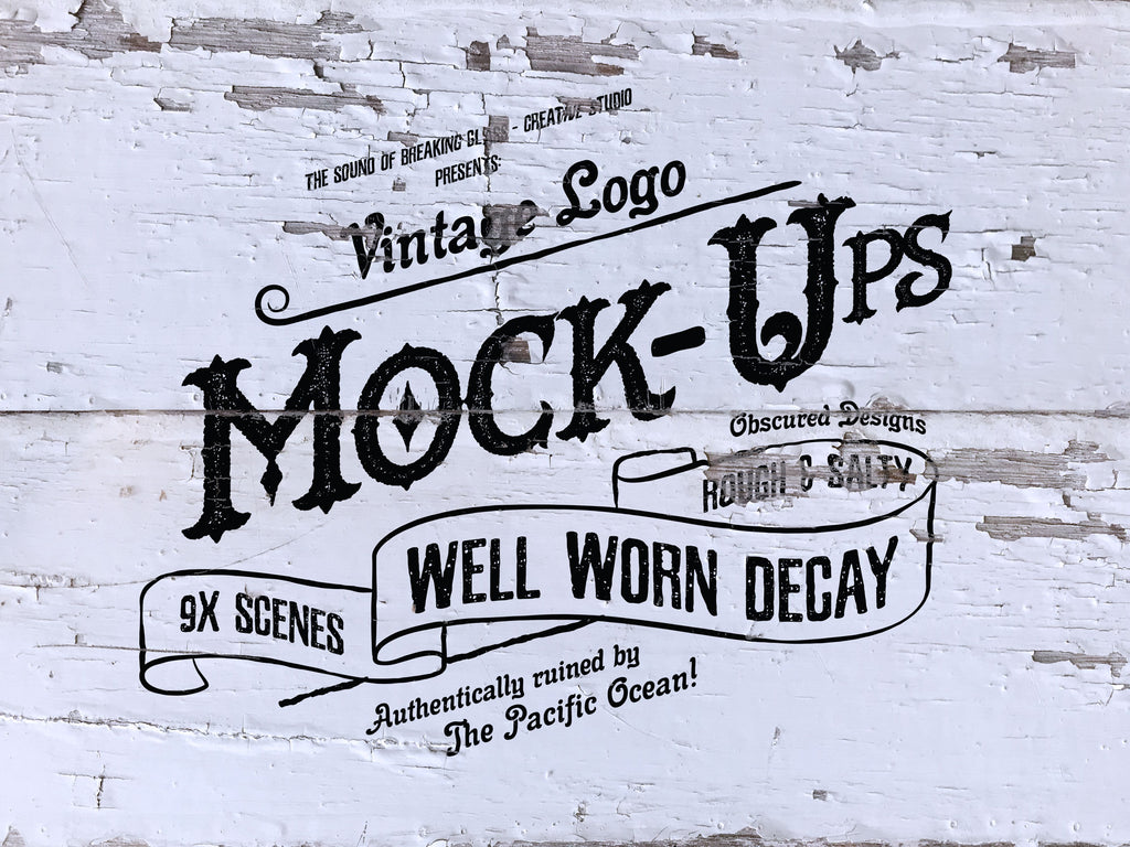 Vintage & Retro Rustic Decay - Logo Mock-Up
