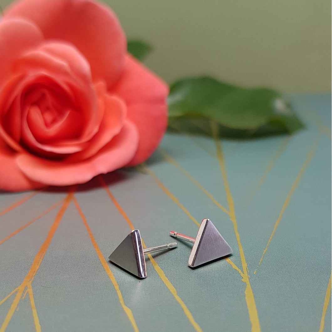 Triangle Stud Earrings - Anni Anni