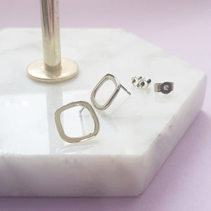 Cobblestone Earrings Stud - Anni Anni