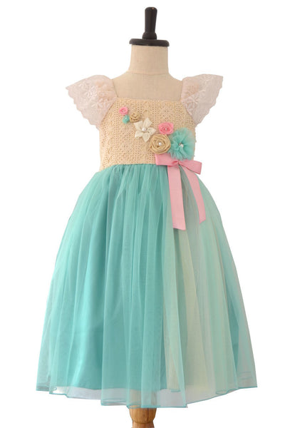 Aqua Blue Flower Girl/Special Occasion/Wedding Dress