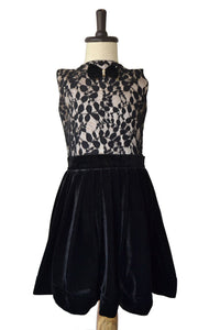 Girls Stylish Black Velvet Party Dress