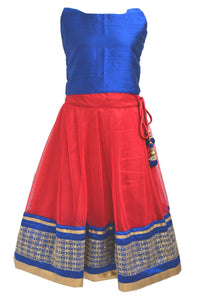 Girls Royal Blue Lacha