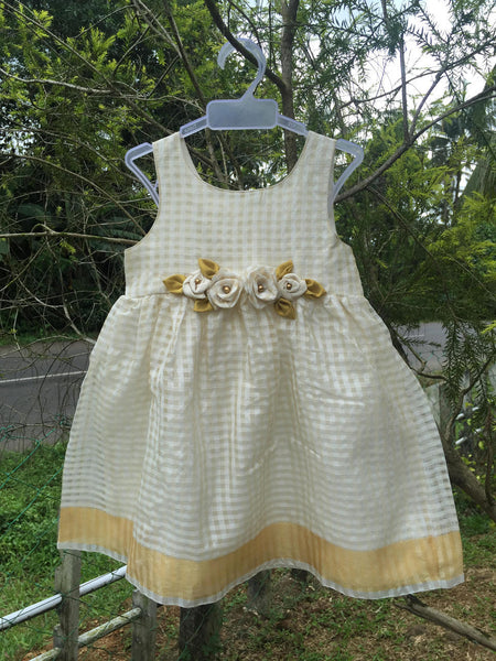 Check White Kasavu Frock