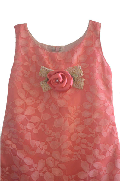 Girls Pink Cute A line  Dress