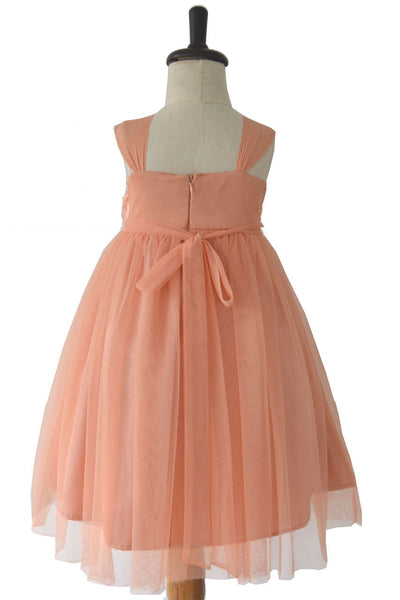 Peach Rose Party/Flower Girl Dress