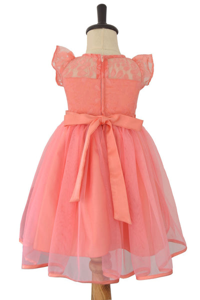 Pink Baby Frock with Stone Waistband