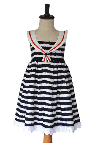 Zebra Striped Sailor Dress