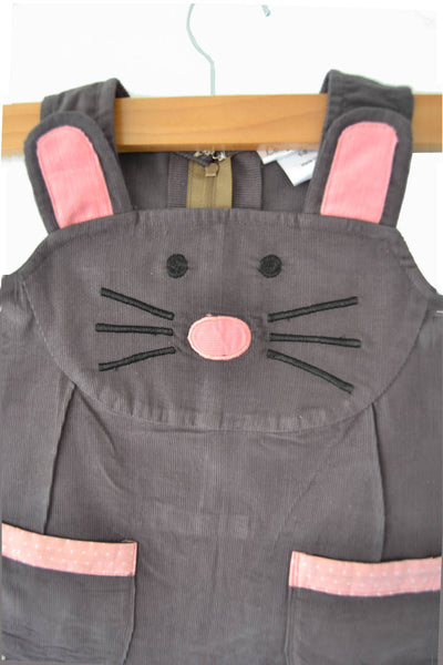 Baby Mouse Dress in Grey Corduroy