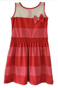 Red Striped Knitted Frock