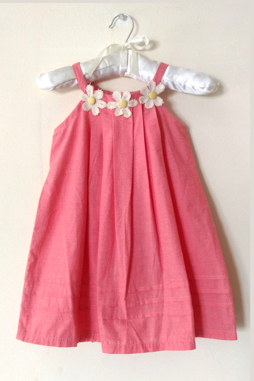 Peach Cotton Blend Aline Frock