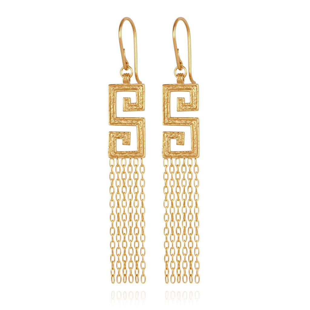 Delphi Earrings Gold - One Palm Studio