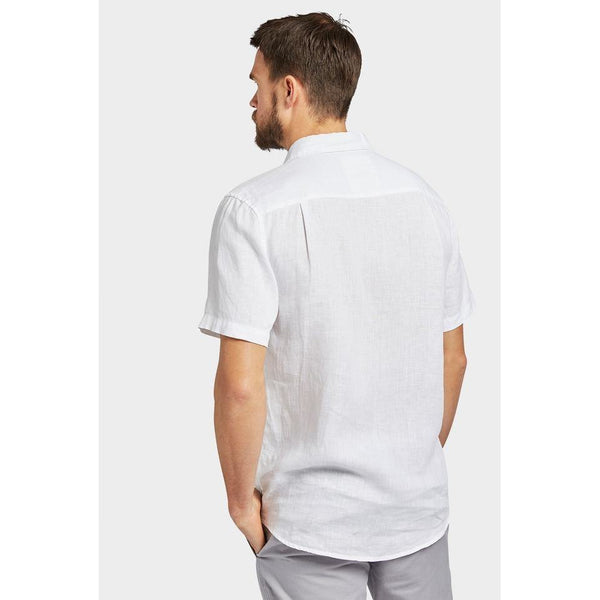 Hampton Linen  S/S Shirt White - One Palm Studio