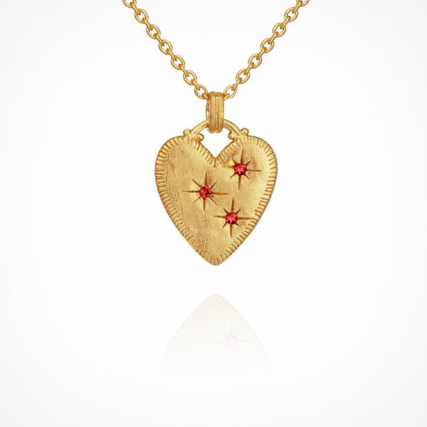 Etti Necklace Ruby Gold - One Palm Studio
