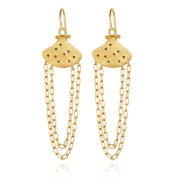 Willa Earrings Gold - One Palm Studio