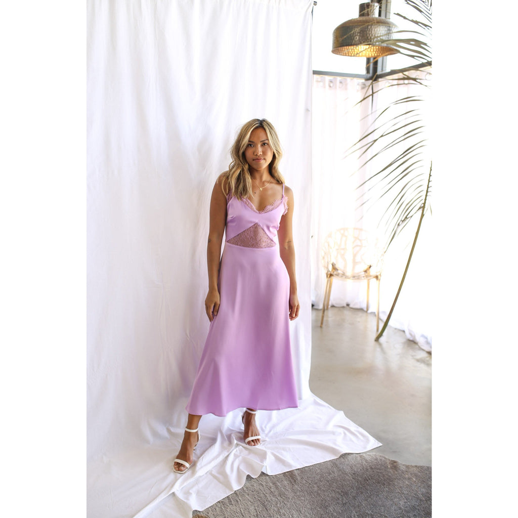 Camille Lace Dress Lilac - One Palm Studio