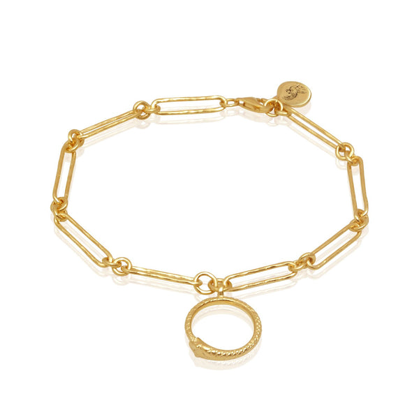 Serpent Charm Bracelet Gold - One Palm Studio