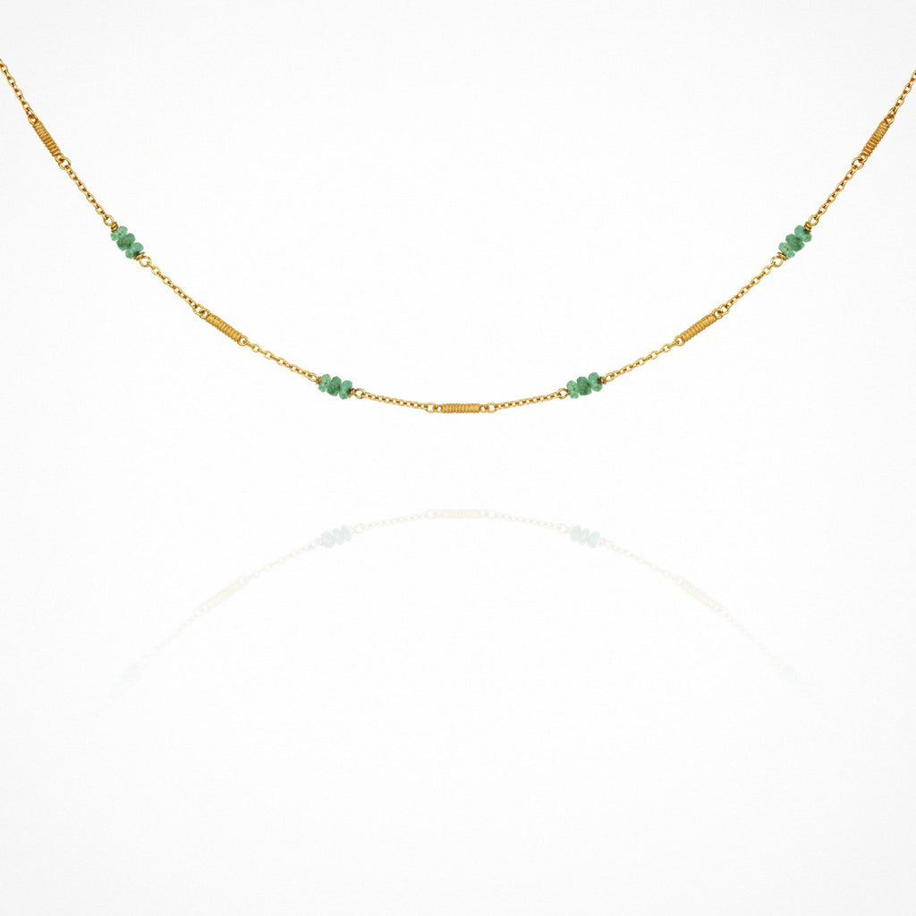 Quinn Emerald Necklace - One Palm Studio