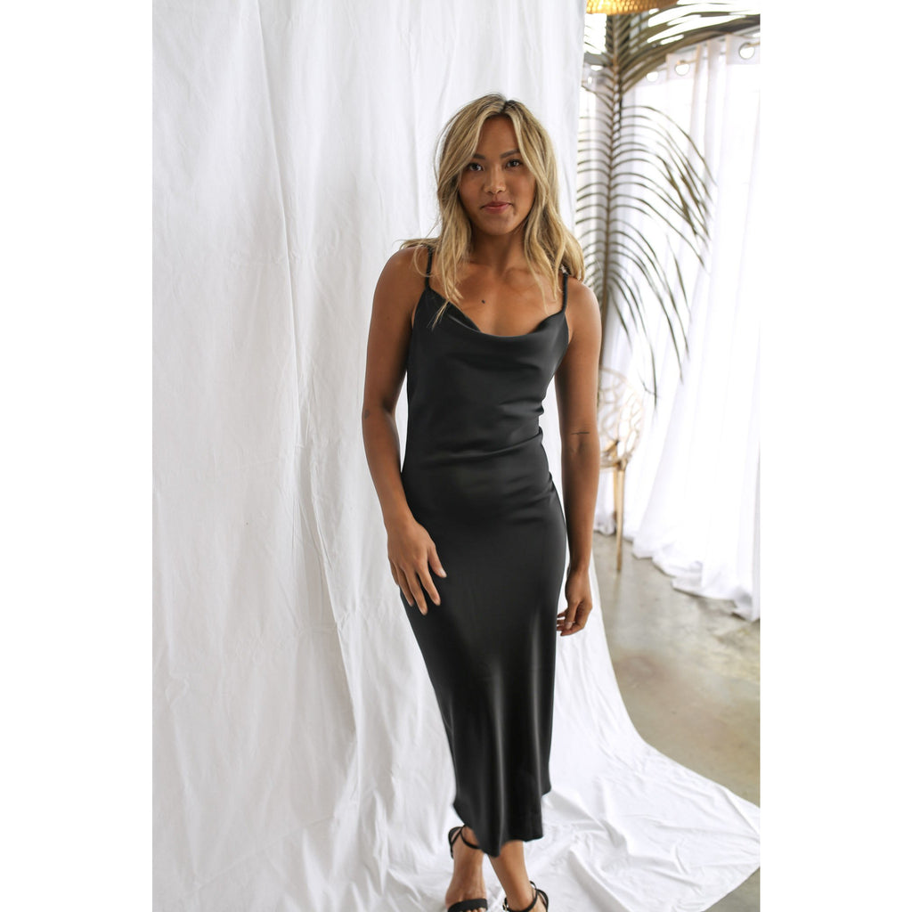 Coachella Midi Slip Black - One Palm Studio