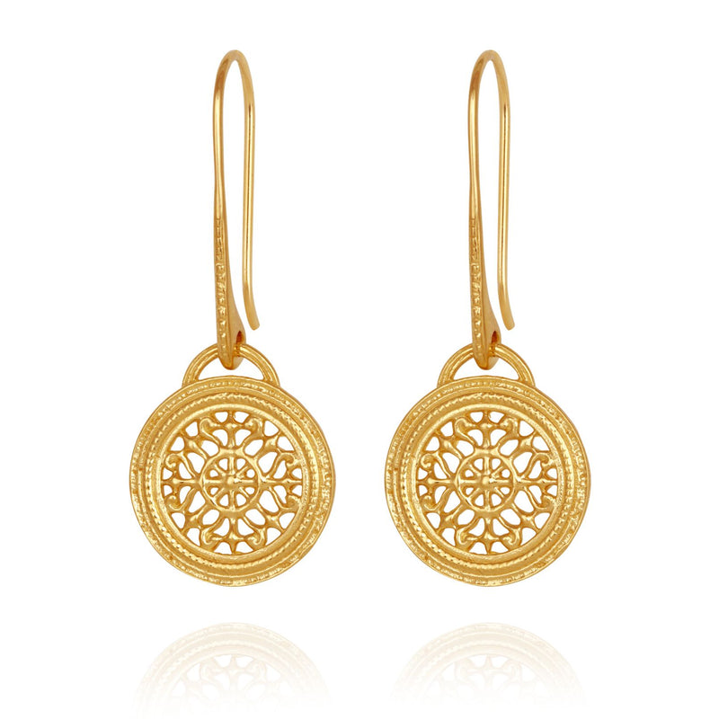 Dafni Earrings Gold - One Palm Studio