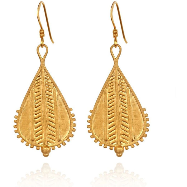 Rahda Earrings Gold - One Palm Studio
