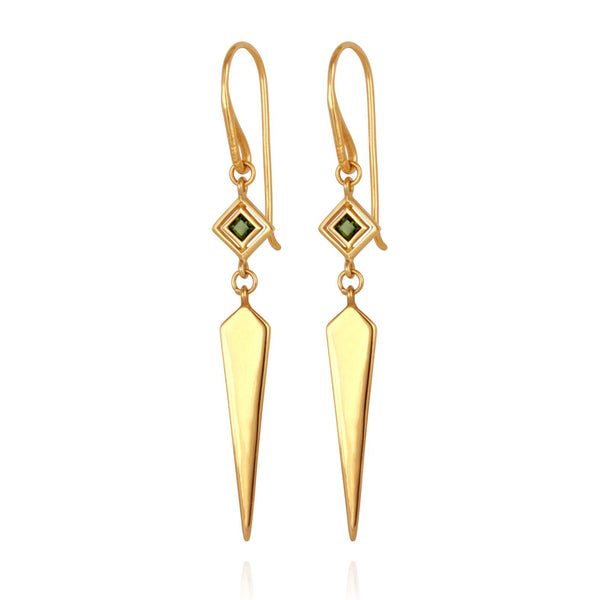 Rhya Earrings Gold - One Palm Studio