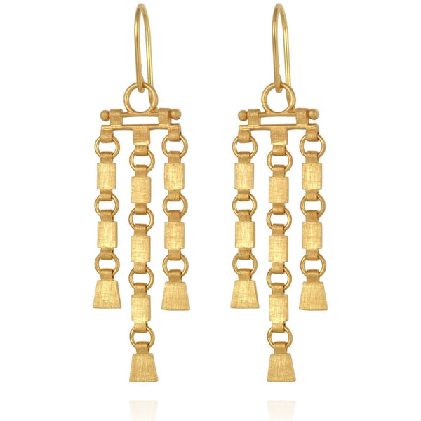 Sharni Earrings Gold - One Palm Studio