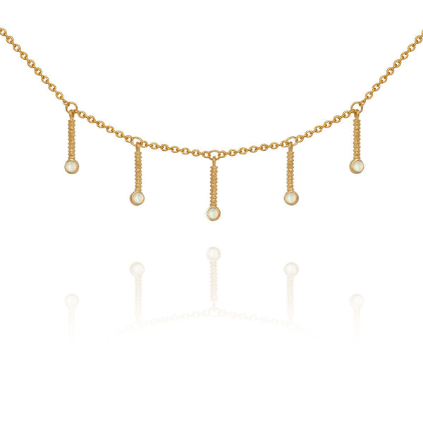 Opal Luna Necklace Gold - One Palm Studio