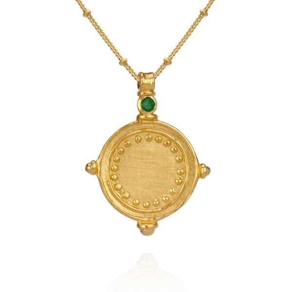 Sura Necklace Emerald Gold - One Palm Studio