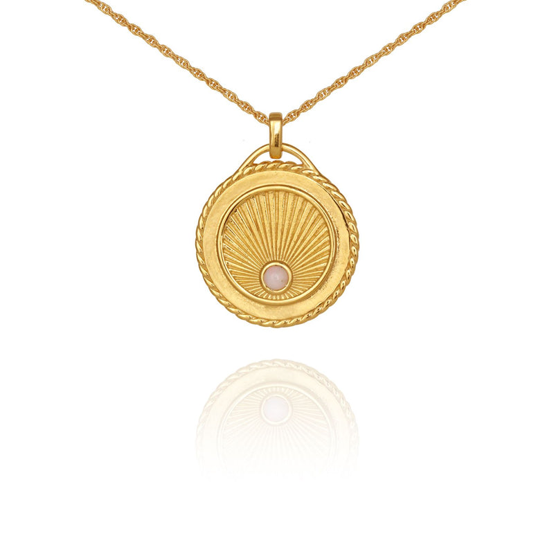 Aadi Necklace Gold - One Palm Studio