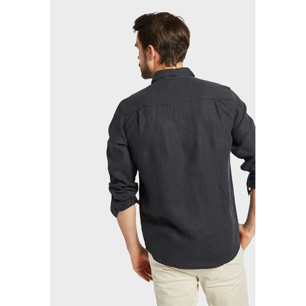 Hampton Linen Shirt Black - One Palm Studio